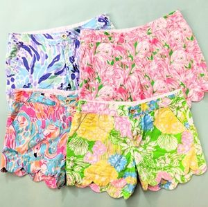 "Lilly Pulitzer 5"" Buttercup Shorts - Set of 4"